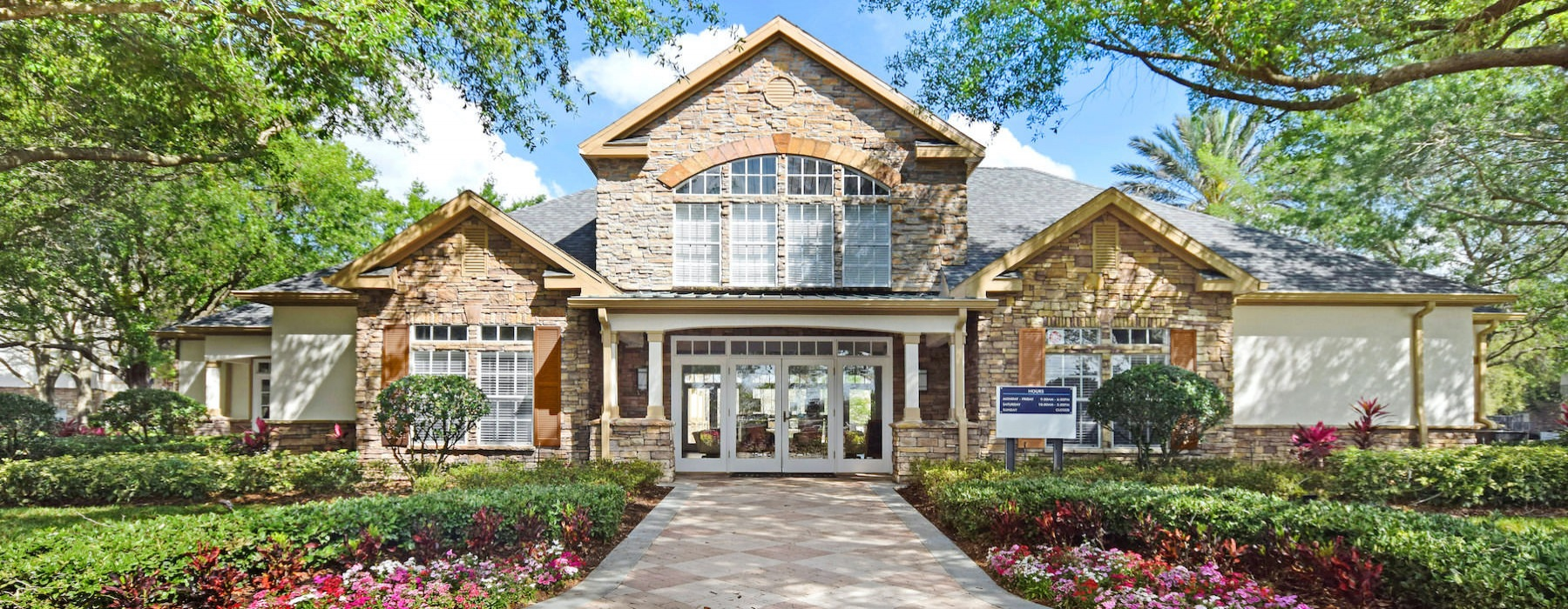 The Monaco at Waterford Lakes, Orlando, Florida, clubhouse entrance